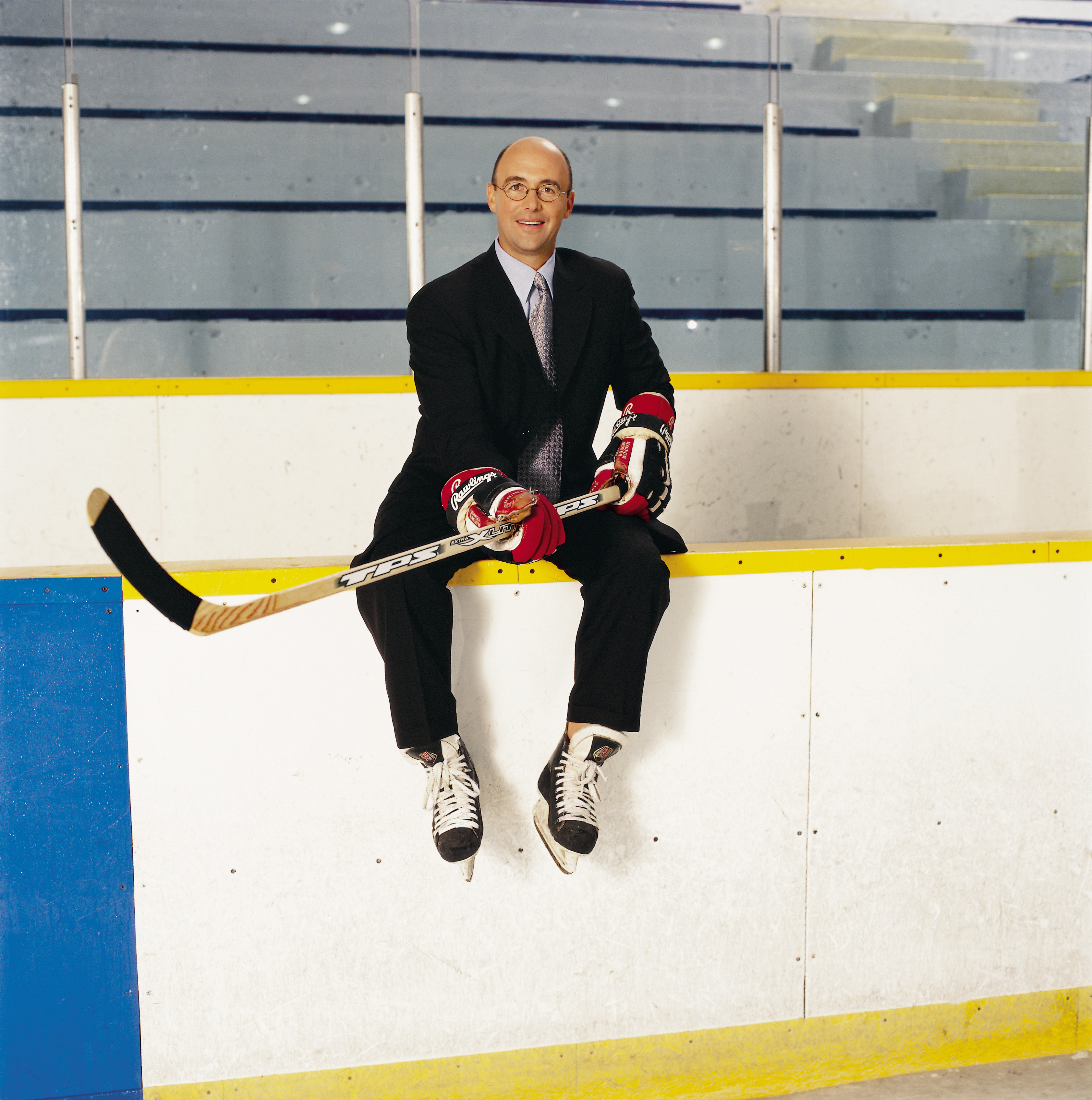 Punctual Pierre always gets to the rink with the perfect amount of time to get ready.